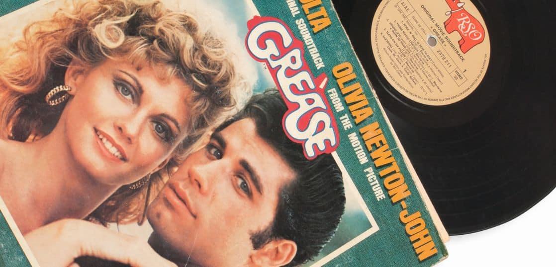 映画グリースのサウンドトラックレコードのジャケット